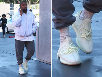 Kanye West Kicked It On Black Friday In Never-Before-Seen Yeezys