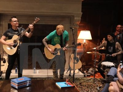 Blink-182 Plays Unplugged in Living Room For Steve Aoki's 40th Bday
