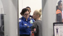 Gwen Stefani Gets Full TSA Pat-Down at Airport