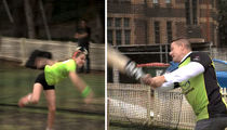John Cena Cricket Fail, Gets Schooled By Young Girl