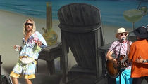 Matthew McConaughey Grooves on Stage with Jimmy Buffett During 'Beach Bum' Filming