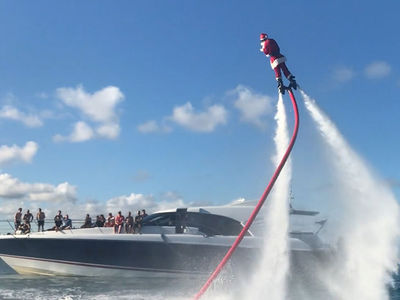 Shawn Mendes Takes Crew on Jetpack Cruise, Santa Tears it Up