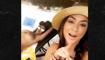 Arianny Celeste & Topless Friend Slaying Beaches in the Bahamas
