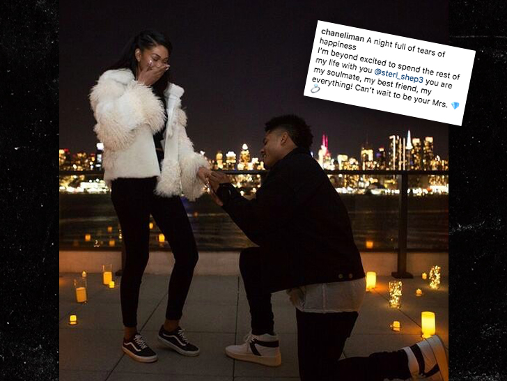 Model Chanel Iman engaged