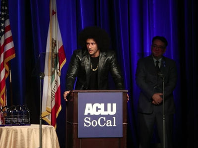 Colin Kaepernick Makes Rare Appearance at Awards Show