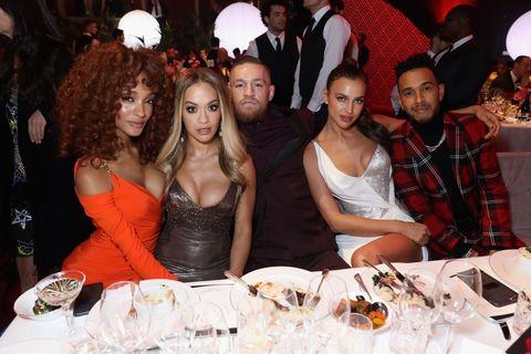 Jourdan Dunn, Rita Ora, Conor McGregor, Irina Shayk, & Lewis Hamilton