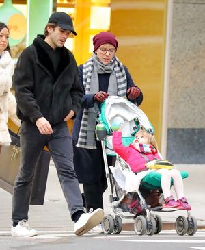 Scarlett Johansson and Romain Dauriac Take A Family Stroll