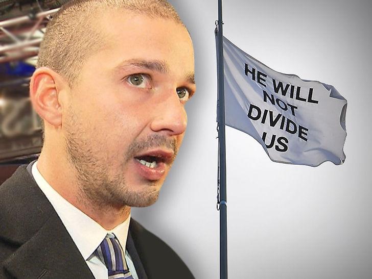 Shia LaBeouf Names Suspected 'HWNDU' Flag Thieves, Triggers Investigation