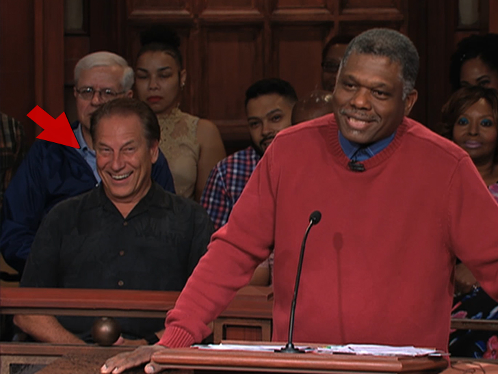 Tom Izzo appeared on 'Judge Mathis' and couldn't contain his excitement