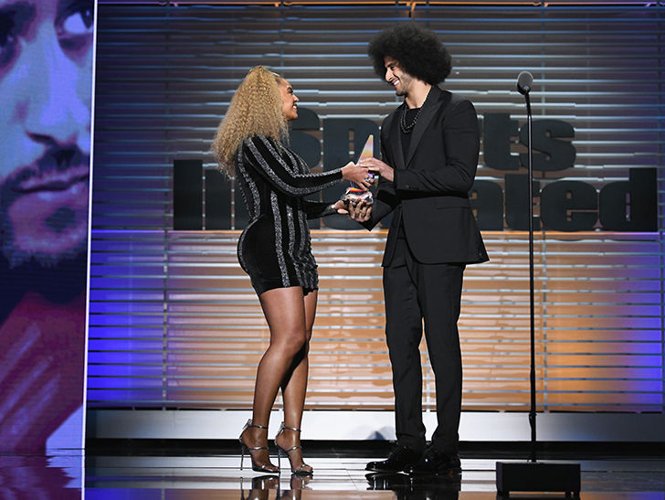 Beyonce Presents Muhammad Ali Award To Colin Kaepernick