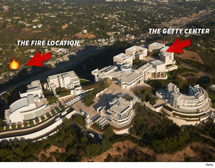 LA's Getty Center was built with fire protection in mind