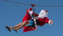 Slide Into the Holiday Season With This Ziplining Santa!