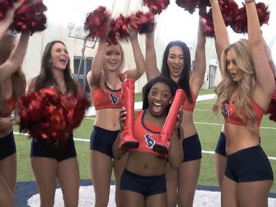 Simone Biles: 1st Shots As NFL Cheerleader, Go Texans!!!