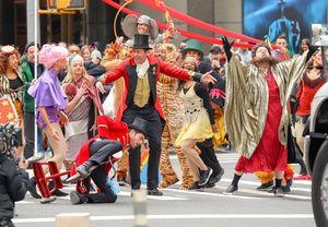 Zac Efron Falls During Circus Shoot With Hugh Jackman and Zendaya