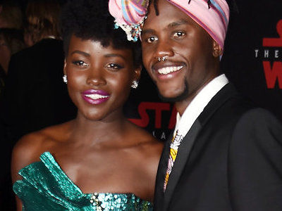 Lupita Nyong'o Is STUNNING at 'Star Wars: The Last Jedi' World Premiere