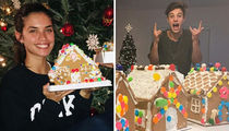 Stars With Their Cookie-Cutter Homes for National Gingerbread House Day