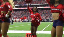 Simone Biles Crushes Texans Cheerleading Debut, Mostly