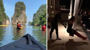 Floyd Mayweather Sets Sail on Baller Thailand Vacation, I'm James Bond!