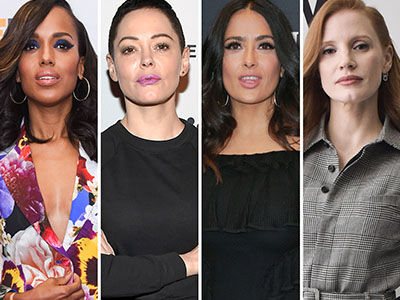 Hollywood Support Salma Over Weinstein Horror -- See Rose McGowan's Response!