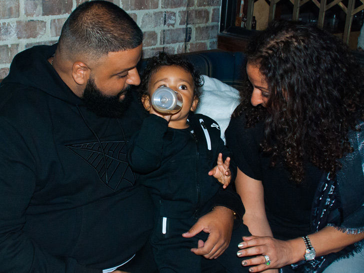 DJ Khaled's Son Asahd Gets Sippy Cup Service at Bar's Grand Opening