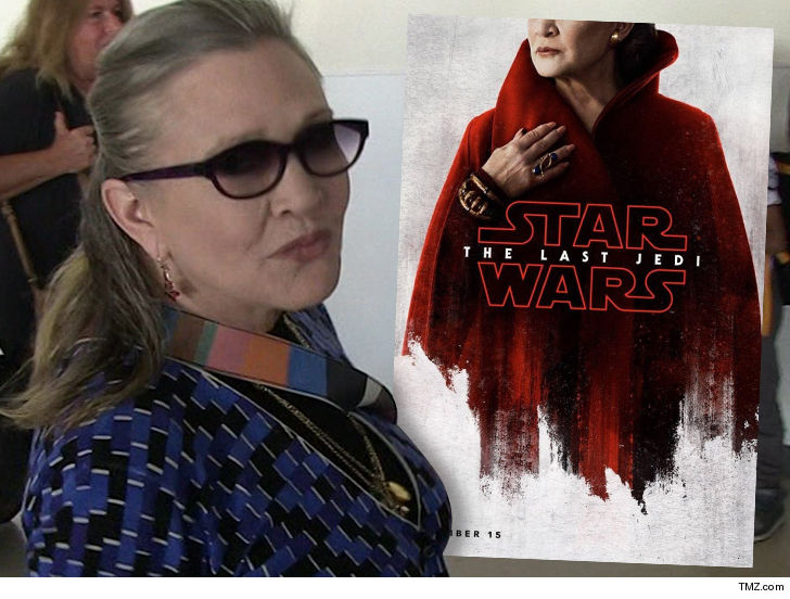 The Last Jedi director talks Carrie Fisher's 'beautiful' performance
