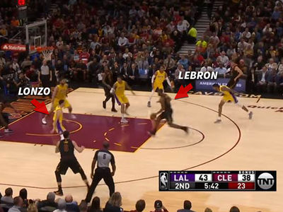 LeBron James' Lonzo Ball Dunk Prediction Comes True
