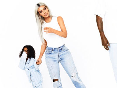 Wait'll You See KANYE In New Holiday Photo with Kim, Saint and North West