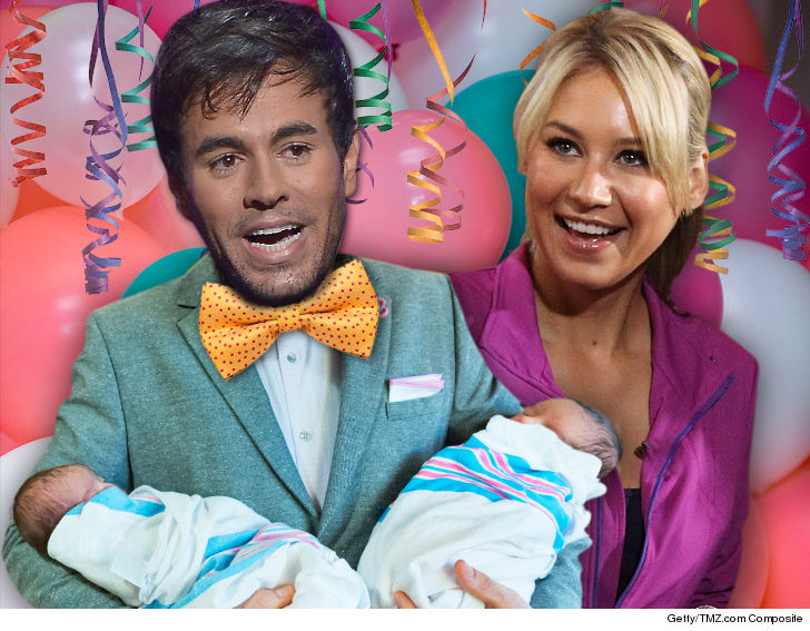 Enrique Iglesias And Girlfriend, Anna Kournikova Welcome Twins