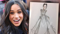 Meghan Markle's Royal Wedding, Potential Dress Sketches Revealed