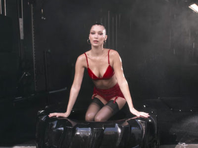 Bella Hadid Swings Hammer for LOVE Advent Calendar