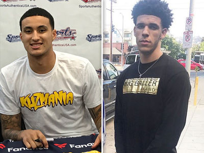 Kyle Kuzma: Hey, Lonzo Ball ... I'm Selling Shirts, Too!