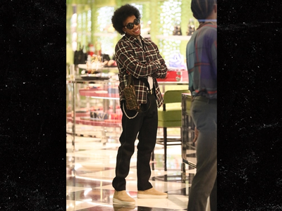 Tyga Unveils Afro While Christmas Shopping in Beverly Hills