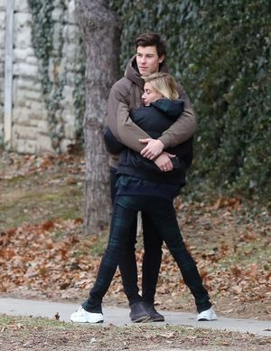 Shawn Mendes and Hailey Baldwin -- PDA in Toronto