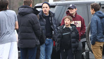 Matt Lauer Hanging with the Boys on Christmas Eve