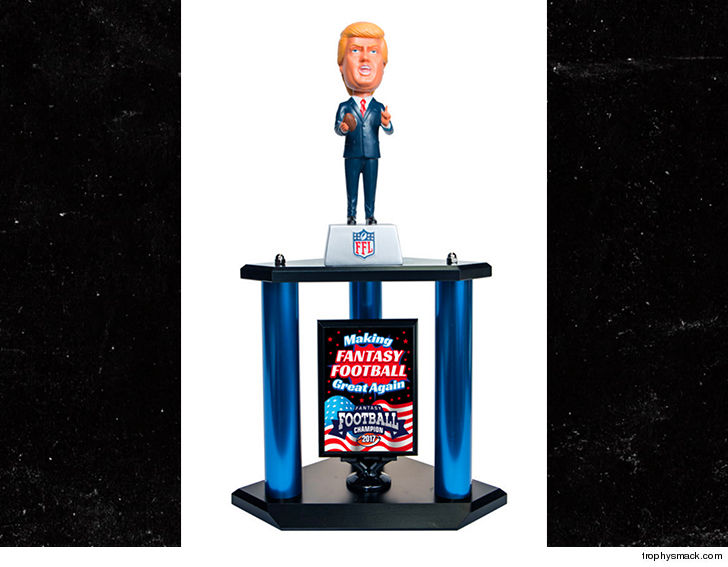 Donald Trump, New Fantasy Football Trophy NFL Fans 1