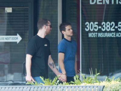 Sam Smith and Boyfriend Brandon Flynn Lock Hands in South Florida