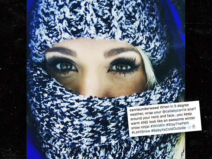 Singer Carrie Underwood says she injured her face in fall