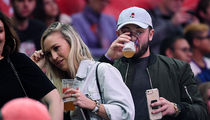 Baker Mayfield Crushes Beers at Clippers Game with Hot Lady Friend