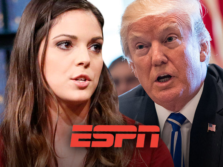 "ESPN will NOT suspend Katie Nolan after she called Donald Trump a ""f**king stupid person."""