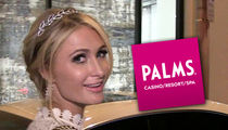 Paris Hilton Gets Special Marquee Shout-out and Engagement Gift From Palms Casino