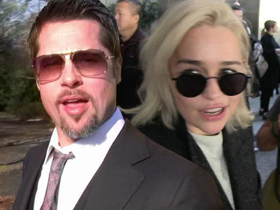 Brad Pitt Bids 6 Figures at Auction for 'Game of Thrones' Viewing with Emilia Clarke