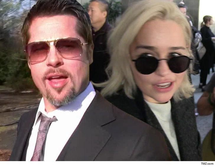Brad Pitt bids $120000 to watch 'Game of Thrones' with Emilia Clarke