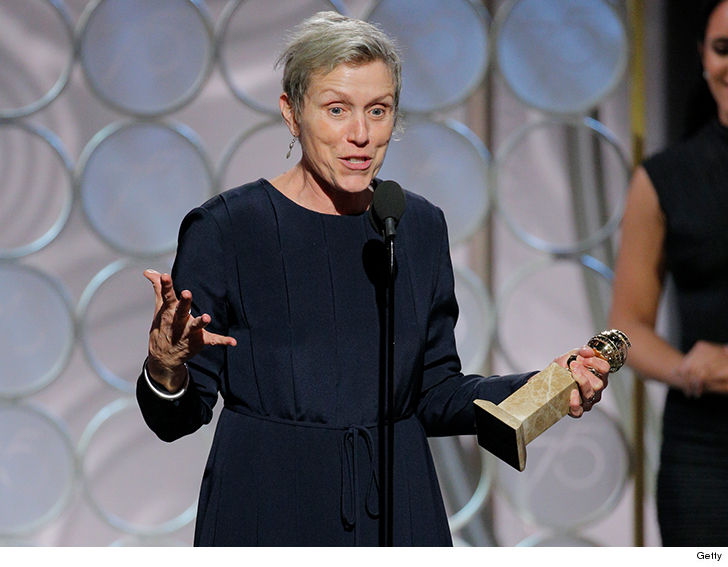 Frances McDormand Gets Bleeped for 'Fox Searchlight,' but Not 'Shite — Golden Globes