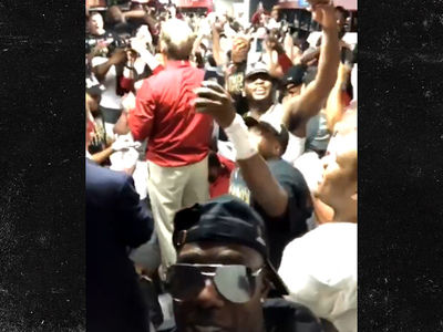Nick Saban to Bama: GIMME THAT FIGHT SONG, Leads Locker Room Celebration!