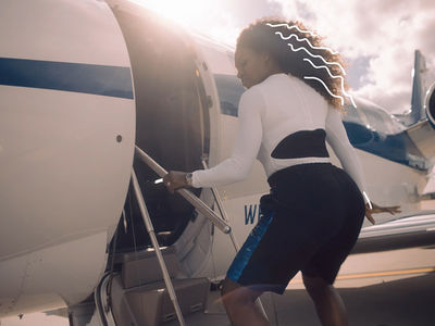 Serena Williams Ass Shakin' in Front of Private Jet