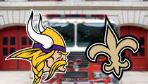 Vikings vs. Saints: Fire Departments Place Bet on NFL Playoff Game
