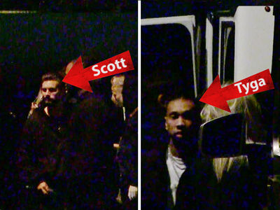 Scott Disick and Tyga Party Together on the Sunset Strip