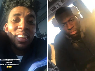 Draymond Green Loses Two NFL Bets to Nick Young, Swaggy Gloats