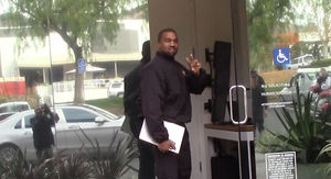 Kanye West Seen For First Time Since Birth of Daughter