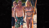 Dennis Quaid's Ripped Beach Date with Model GF Santa Auzina